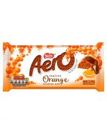 A share size milk chocolate bar with a orange melting bubble centre