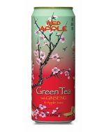 A large can of Arizona Red Apple Green tea with Ginseng and apple juice