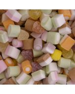 Traditional fruit flavour assorted candy fondant sweets with small fruit flavour jellies