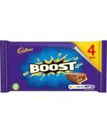 A multipack of 4 Cadbury Boost chocolate bars