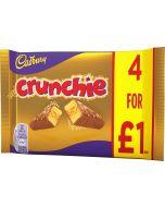 A golden crunchy honeycomb bar covered in Cadbury milk chocolate