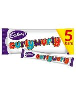 A multipack of 5 Cadbury Curly Wurly chewy caramel bars
