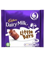 A multipack of 6 little dairy milk bars of chocolate