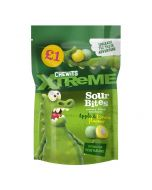 A 145g bag of Chewits new extreme sour chewy bon bons in apple and lemon flavours
