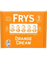 A pack of 3 frys dark chocolate bars with an orange fondant centre