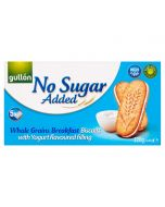 Gullon whole grain breakfast biscuits with a yoghurt flavoured filling and No Added Sugar!