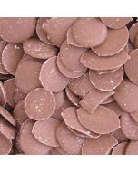 A bulk 3kg bag of Hannahs retro chocolate buttons, milk chocolate flavour sweets