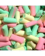 Rhubarb and custard flavour candy sweets