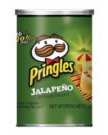 A tube of Jalapeno spicy American pringles