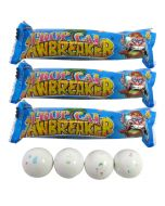 3 packets of tropical flavour jawbreakers gobstopper sweets