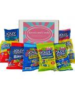 A Sweets and Candy Hamper Box bursting with different American Jolly Rancher sweets