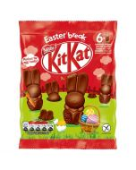 Mini milk chocolate bunnies with a chocolate centre and wafer pieces