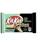 A mint and dark chocolate kit kat bar