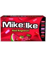 An American theatre box frull of red fruit flavour Mike and Ike American sweets