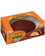 A large Reese's Peanut Butter Easter egg covered in creamy milk chocolate