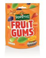A bag of fruit flavour firm gummy sweets made by Rowntrees