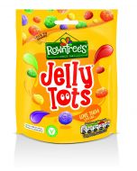 A 120g bag of Rowntree's jelly tots, fruit flavour squidgy jelly sweets