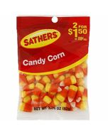 A bag of delicious Sathers candy corn American sweets