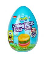 A plastic Easter egg filled with gummy krabby patties!