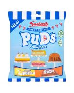 A 135g bag of swizzels pudding flavour chew bars which are suitable for vegans