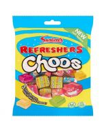 A bag of swizzels refreshers sweets in chewits style cubes with a fizzy sherbet centre