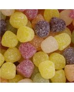 Taveners traditional american hard gum sweets, fruit flavour gummy sweets covered in sugar