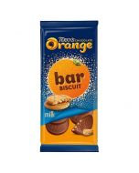 The amazing Terry's chocolate orange chocolate in a bar form with biscuit pieces