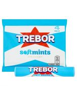 A multipack of 4 Trebor Softmints rolls in a fresh spearmint flavour