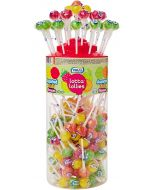 A full jar of 150 assorted fruit flavour lollies