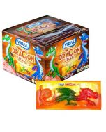 A full box of 22 large jelly sweets shaped like dragons