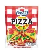 Vidal fruit flavour gummy sweets in the shape of pizza slices