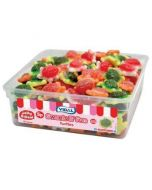 A bulk tub of Jelly sweets shaped like turtles with a gooey jelly centre