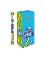 A full box of 50 individually wrapped fruit flavour giant pencils