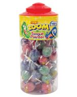 A full jar of Vidal tongue painter lollies with a bubblegum centre