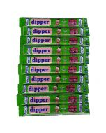 Vidal sour apple dipper chew bars which paint your mouth green!