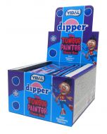 A full box of Vidal Dipper chew bars in a sour blue raspberry flavour and they are tongue painters too!