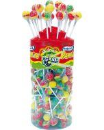 A full jar of 150 traffic light lollipops