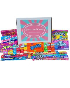 A Sweets and Candy Hamper Box full of Wonka Sweets