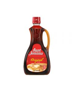 A large 710ml bottle of Aunt Jemima American pancake syrup
