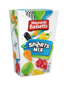 Delicious super chewy fruit-flavoured sweets, shaped in a variety of classic sports gear