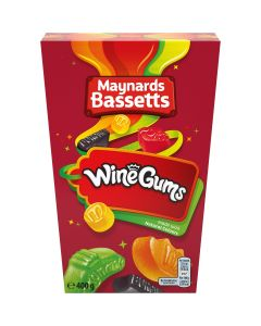Delicious fruit-flavoured chewy gums made in a variety of dazzling colours, stamped with signature wine labels