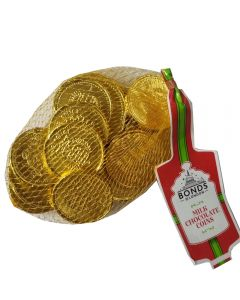 A net of Christmas chocolate coins, perfect stocking filler sweets!