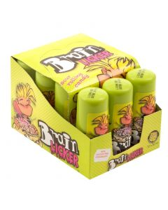 Roller sweets full of sour liquid candy