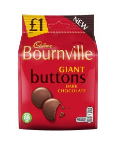 A share size bag of Cadbury Bournville dark chocolate button sweets