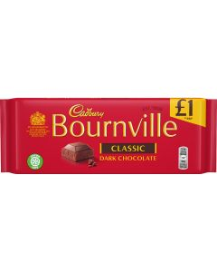 Bournville classic dark chocolate bar in a sharing size