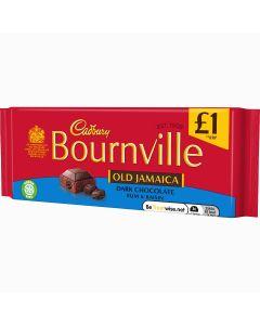 Cadbury Bournville dark chocolate bar with rum flavoured raisins