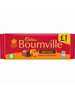 Bournville dark chocolate bar with orange flavour pieces