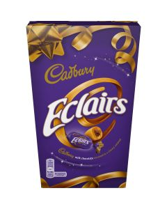 Cadbury Eclairs sweets take you on a delicious journey through a layer of pure caramel to a heart of rich Cadbury's milk chocolate.