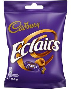 A share size bag of chewy caramel toffee sweets with a milk chocolate centre
