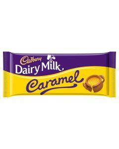A share size bar of Cadbury milk chocolate filled with gooey caramel